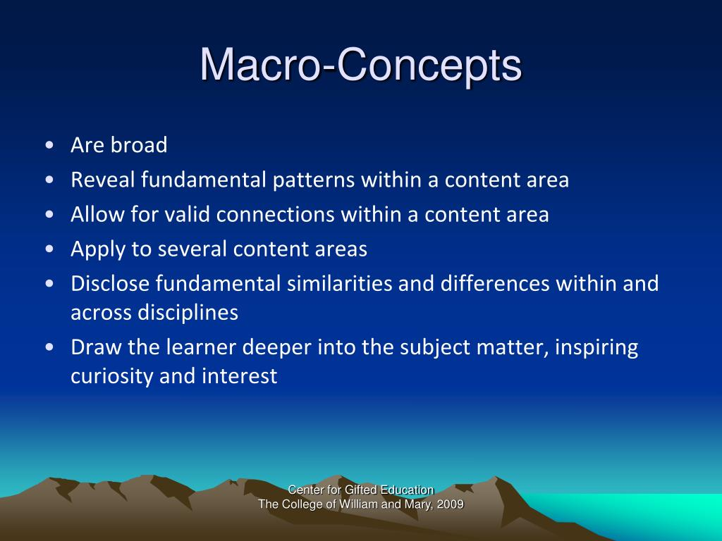 Macro-Concepts