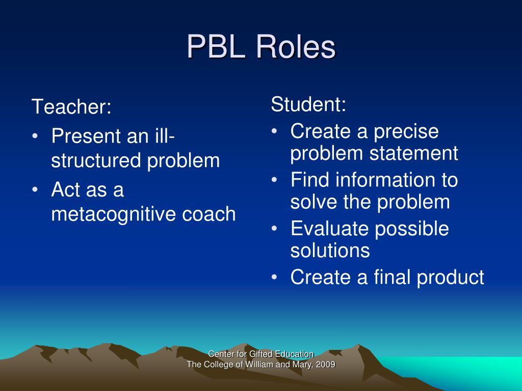 PBL Roles