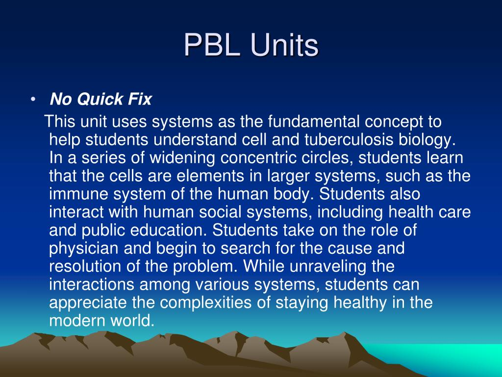 PBL Units