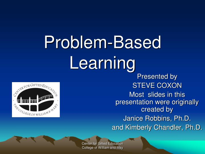 Problem based learning l.jpg