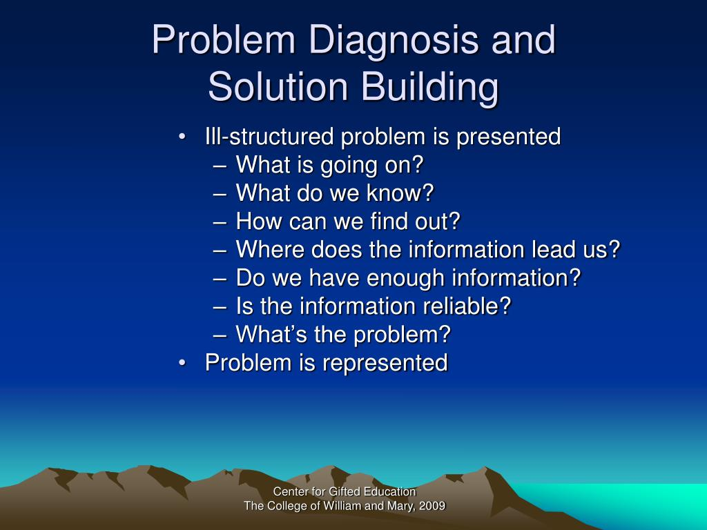 Problem Diagnosis and