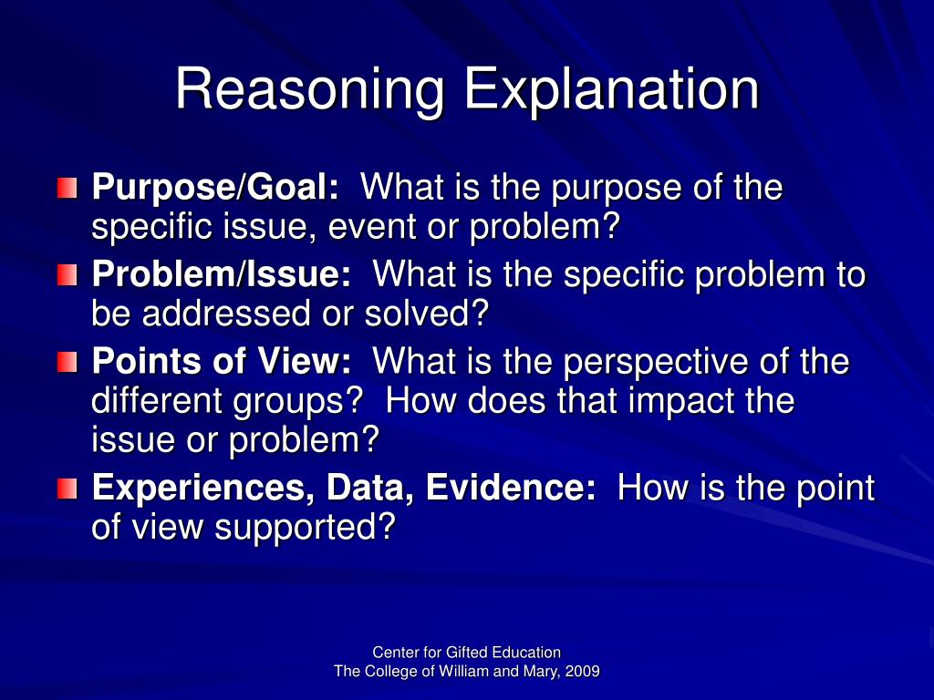 Reasoning Explanation