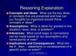 reasoning explanation62