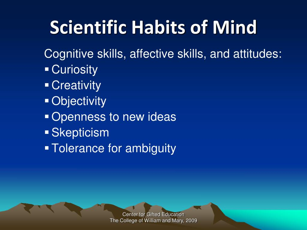 Scientific Habits of Mind