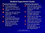 student experiment guide