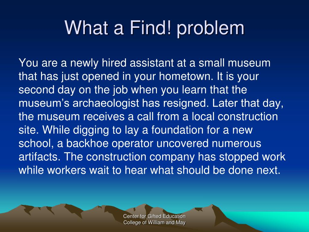 What a Find! problem