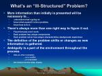 what s an ill structured problem