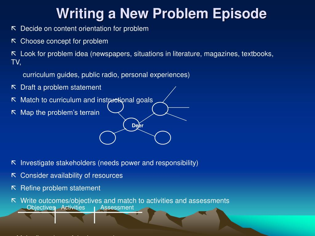 Writing a New Problem Episode