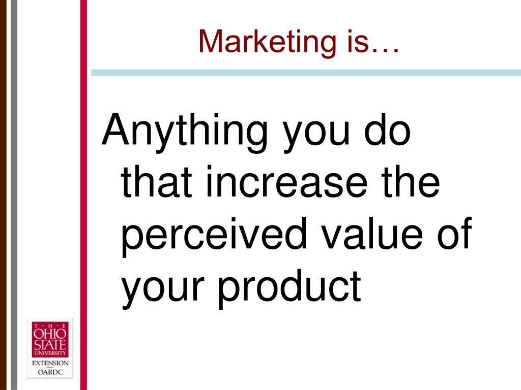 Marketing is…