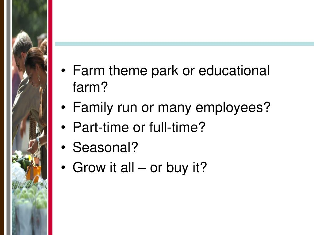 Farm theme park or educational farm?