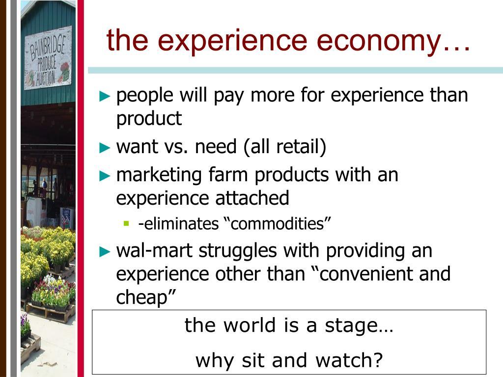 the experience economy…