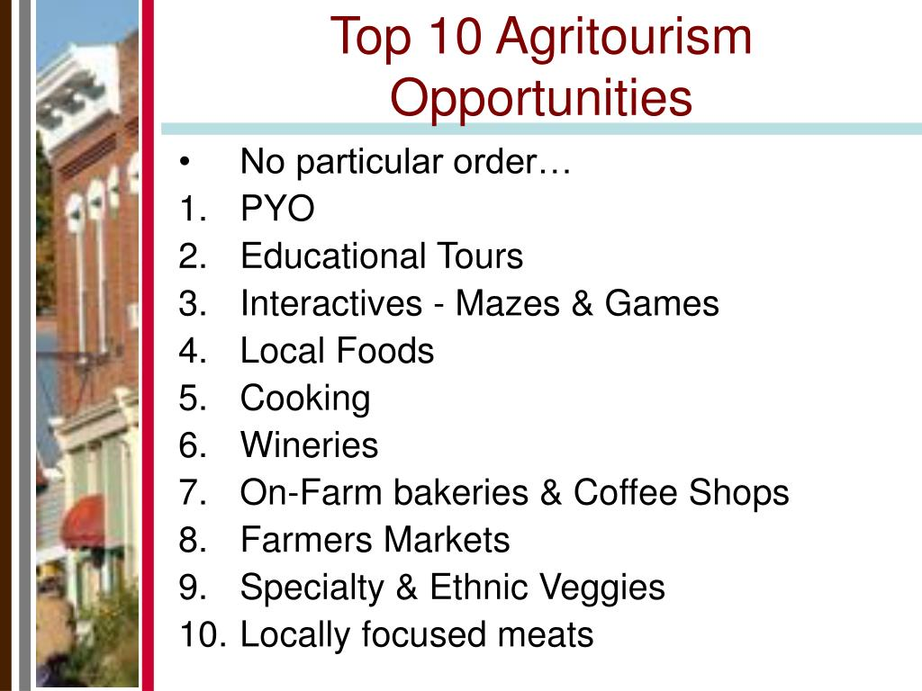 Top 10 Agritourism Opportunities