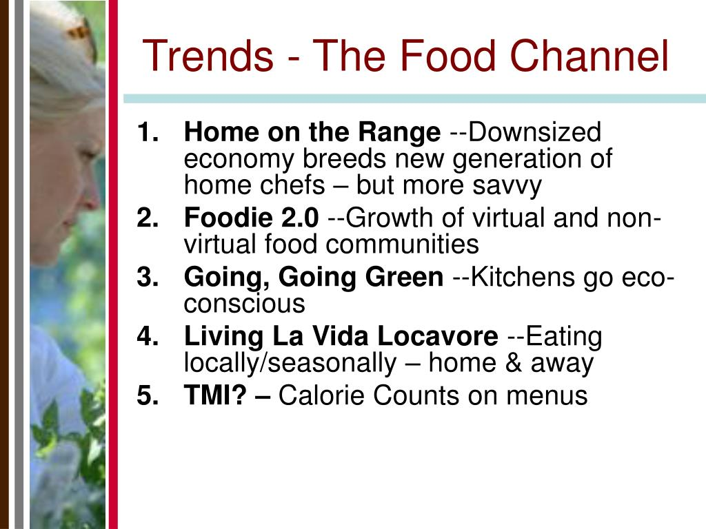 Trends - The Food Channel