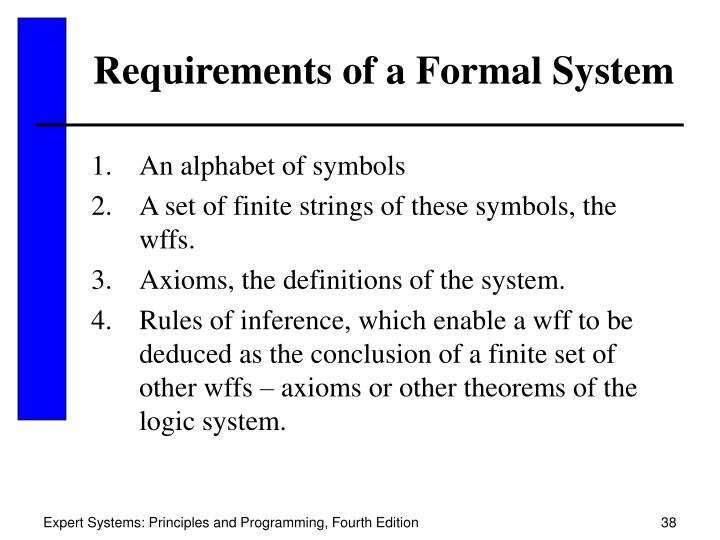 Requirements of a Formal System