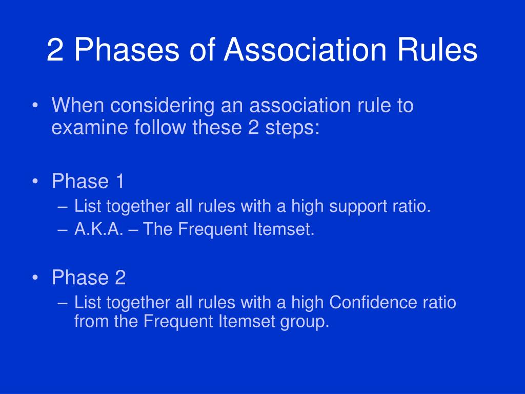2 Phases of Association Rules