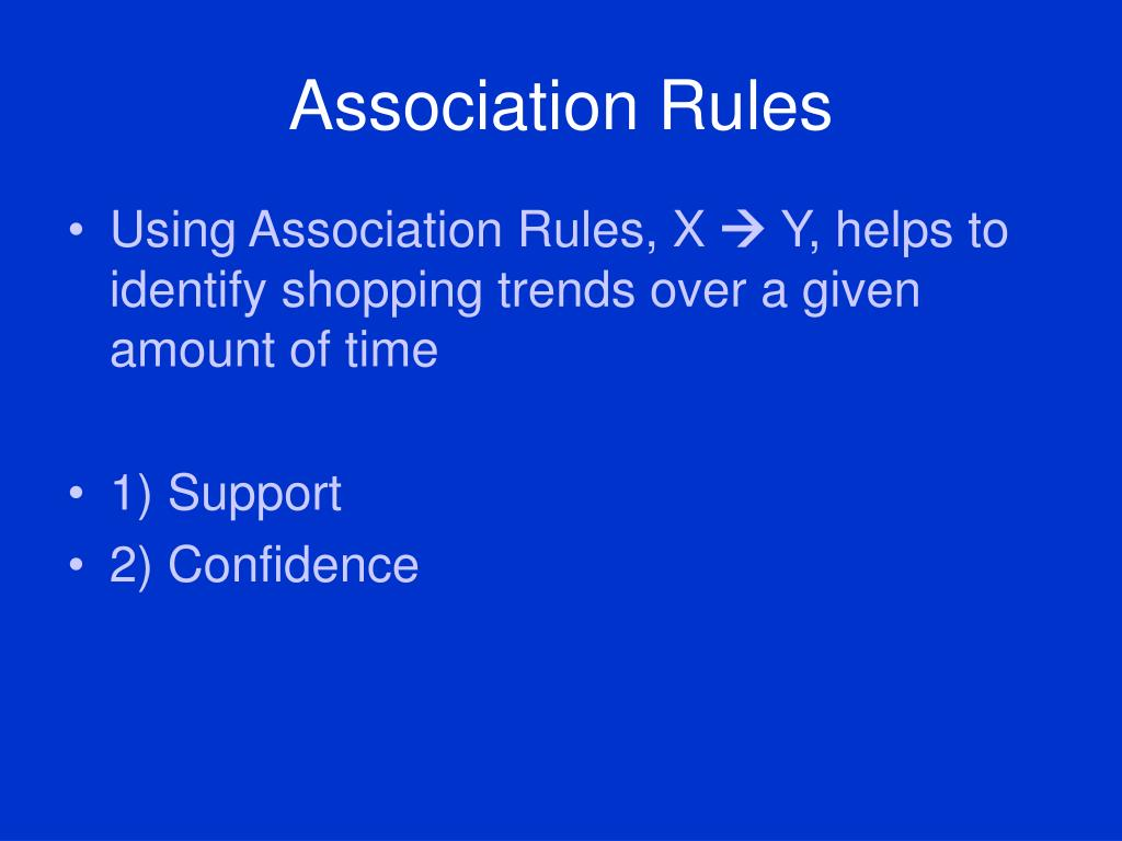 Association Rules
