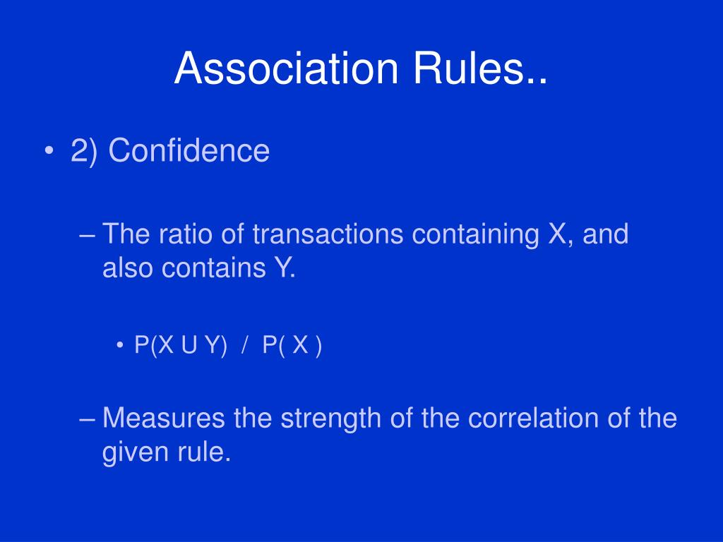 Association Rules..