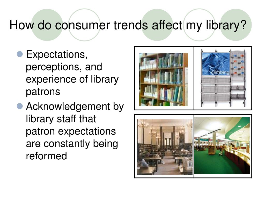 How do consumer trends affect my library?