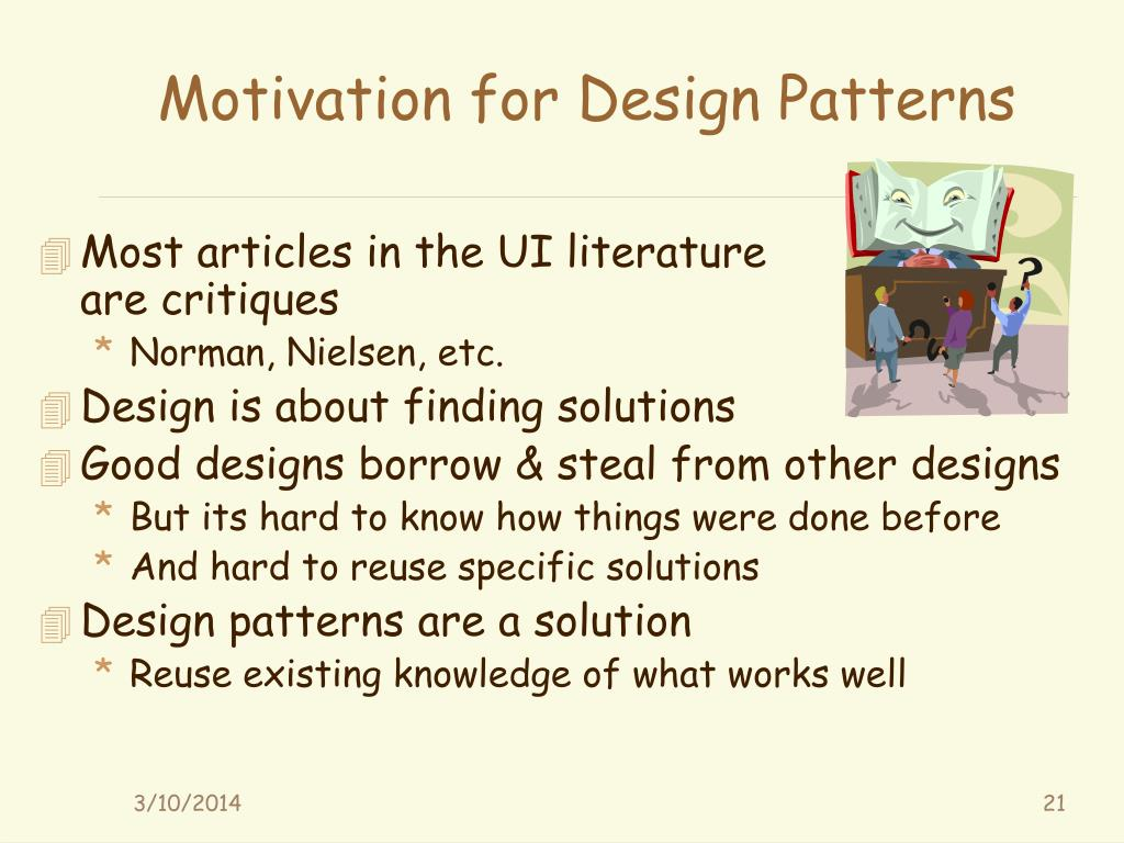 Motivation for Design Patterns