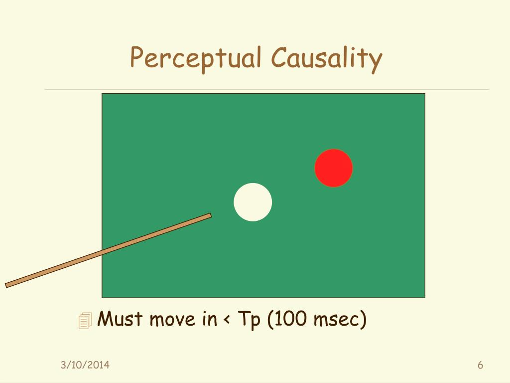 Perceptual Causality