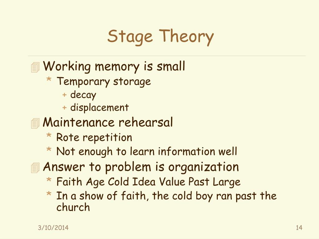 Stage Theory