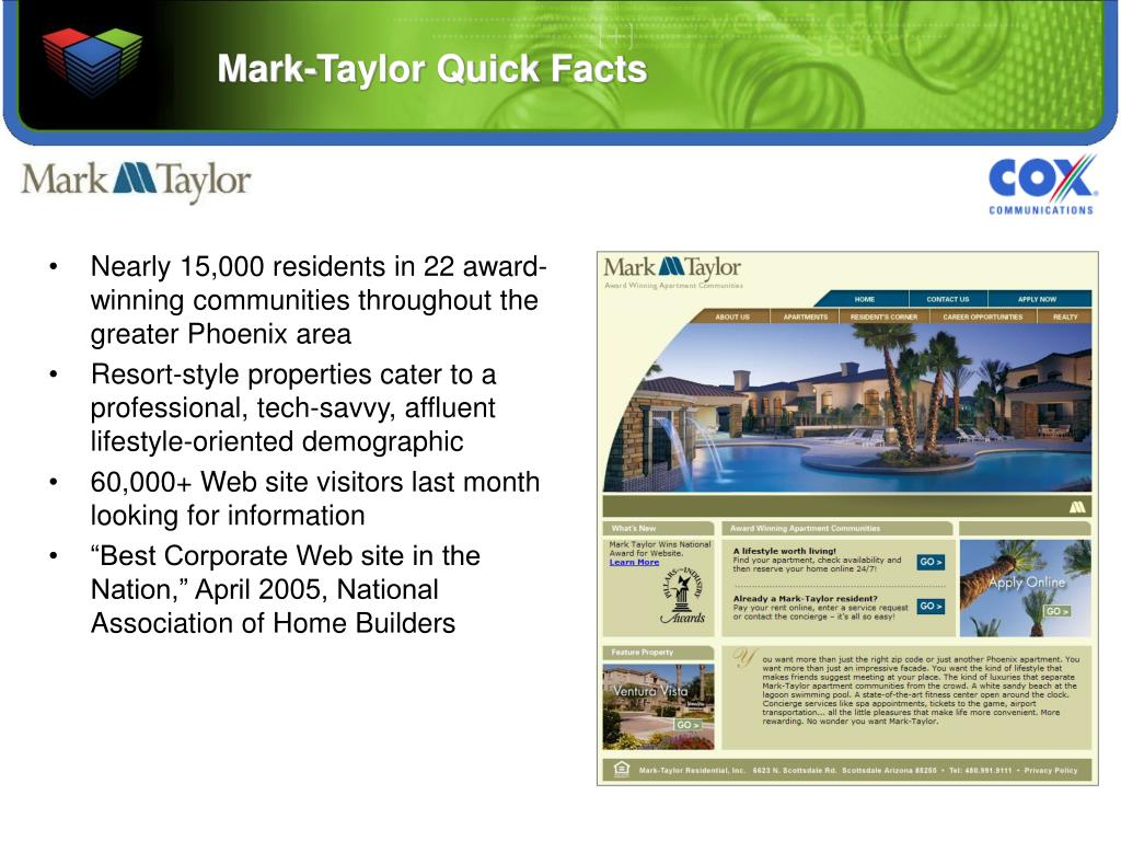 Mark-Taylor Quick Facts