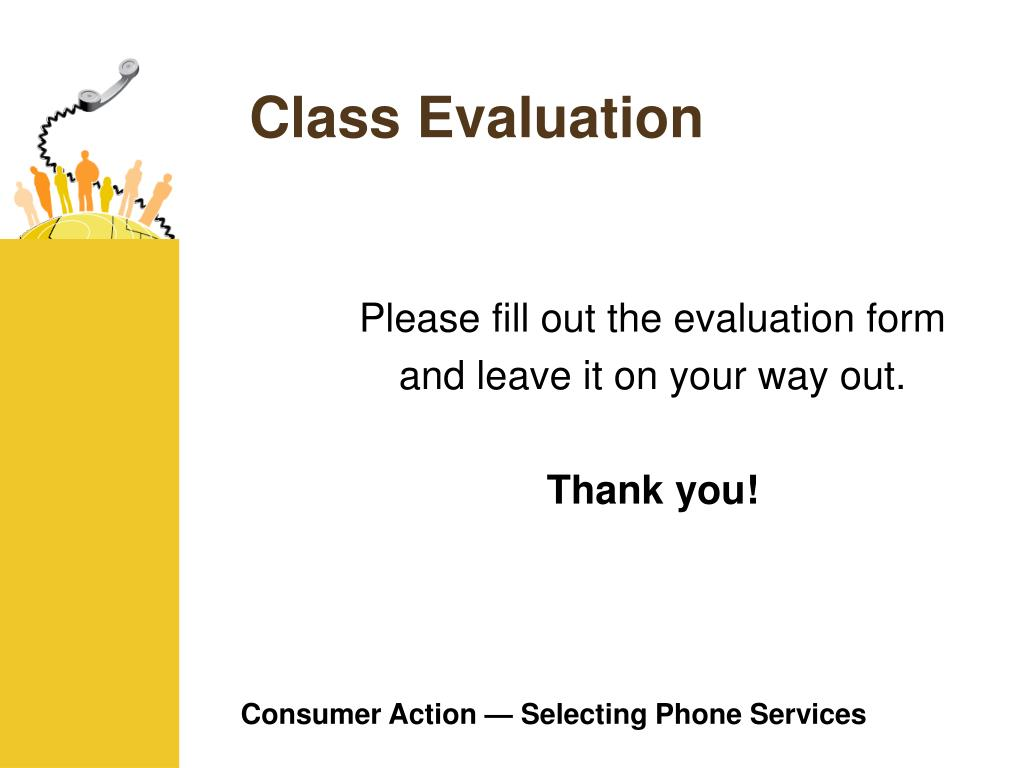 Class Evaluation