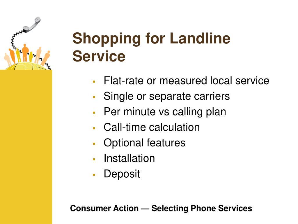 Shopping for Landline Service