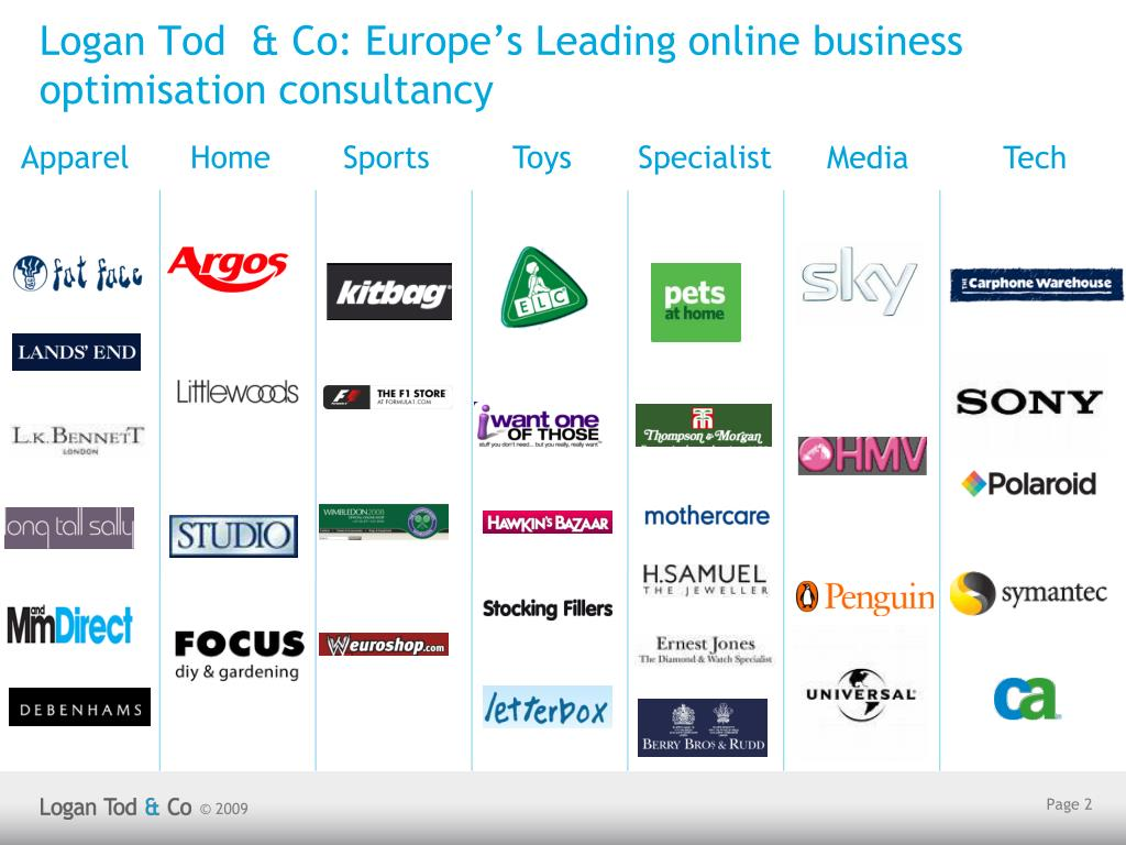 Logan Tod  & Co: Europe's Leading online business optimisation consultancy