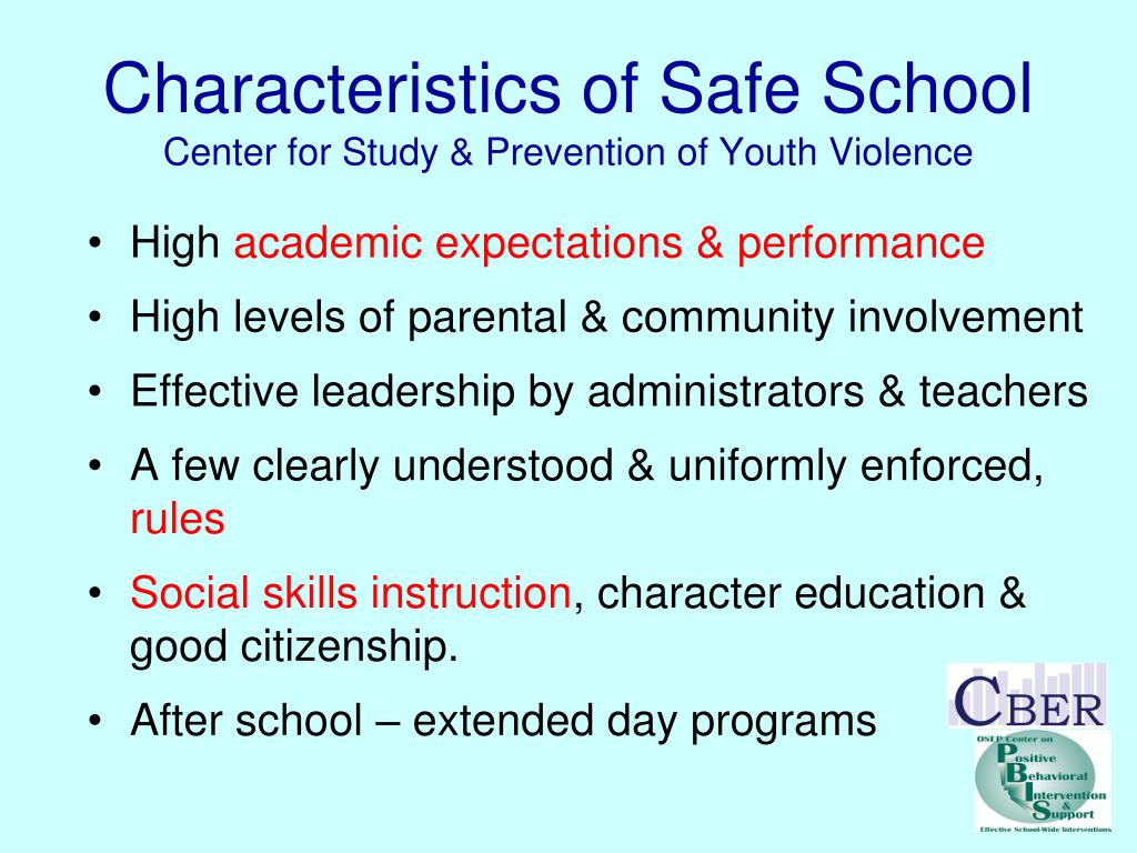 Characteristics of Safe School