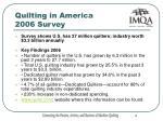 quilting in america 2006 survey