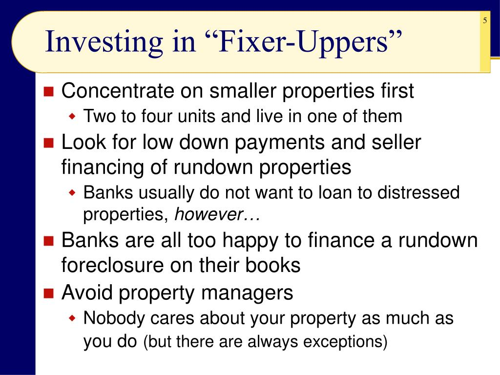 """Investing in """"Fixer-Uppers"""""""