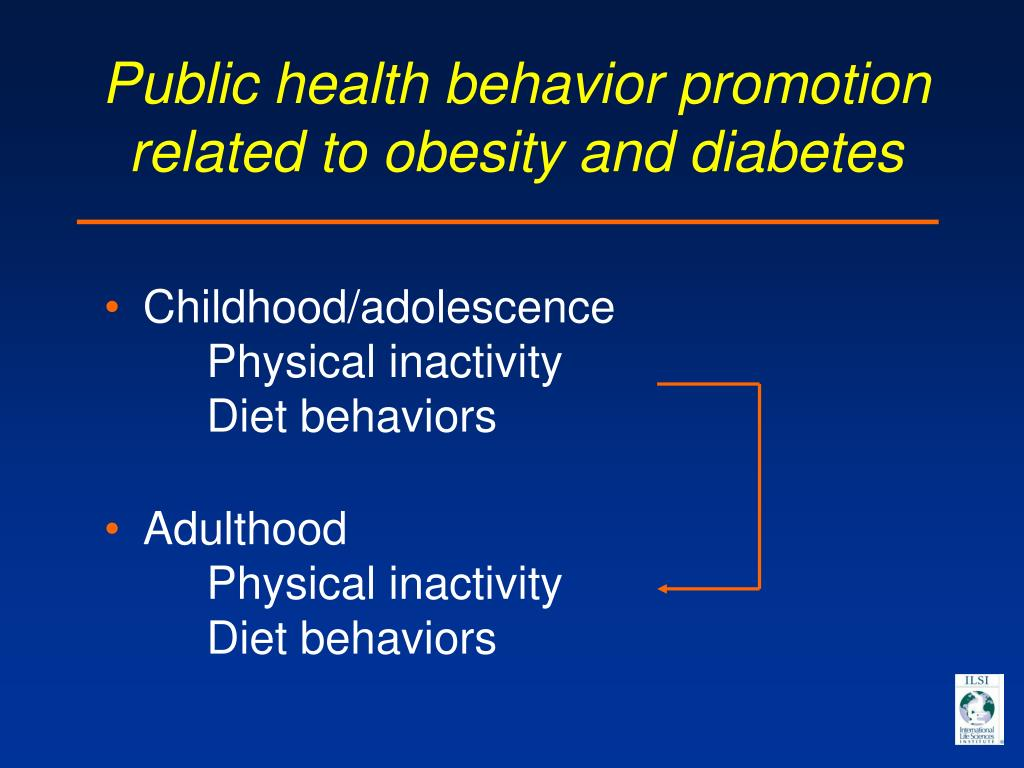 Public health behavior promotion related to obesity and diabetes