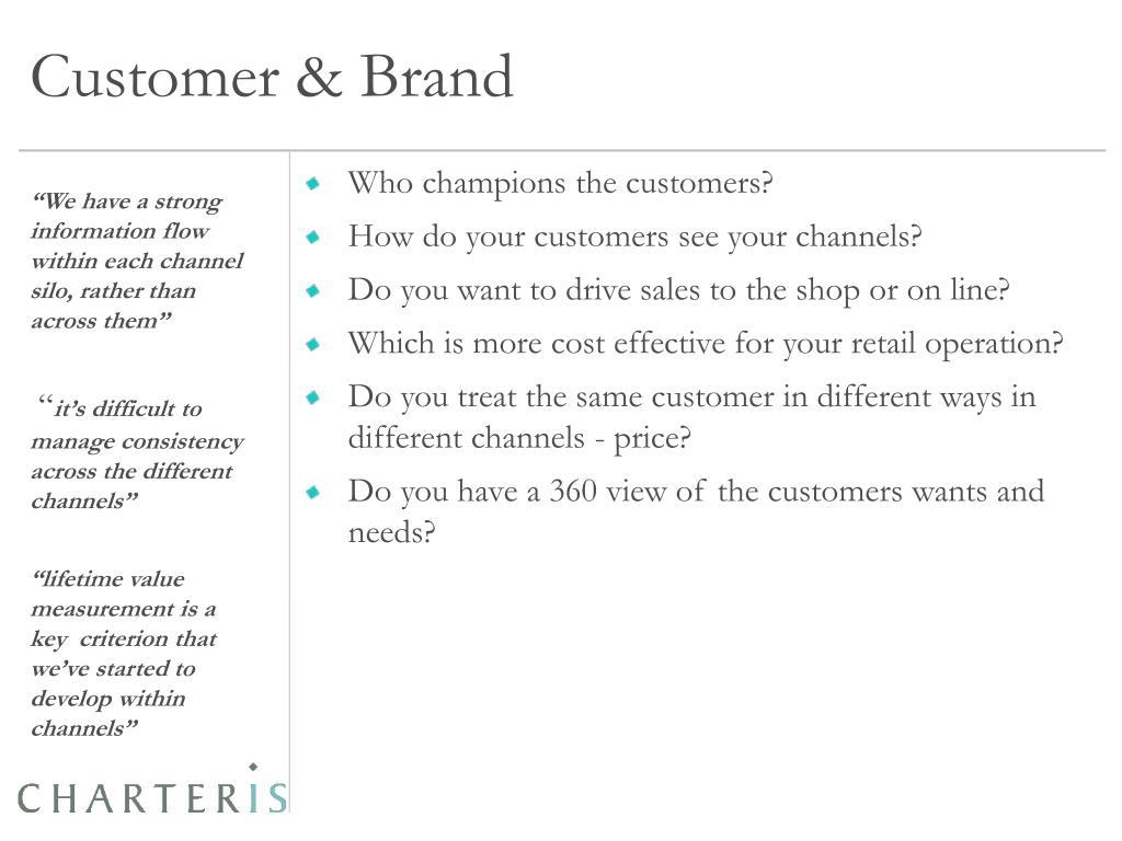 Customer & Brand