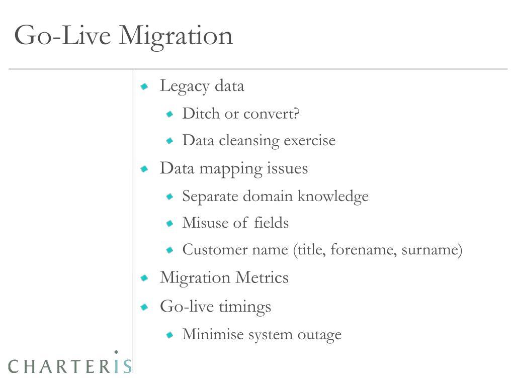 Go-Live Migration