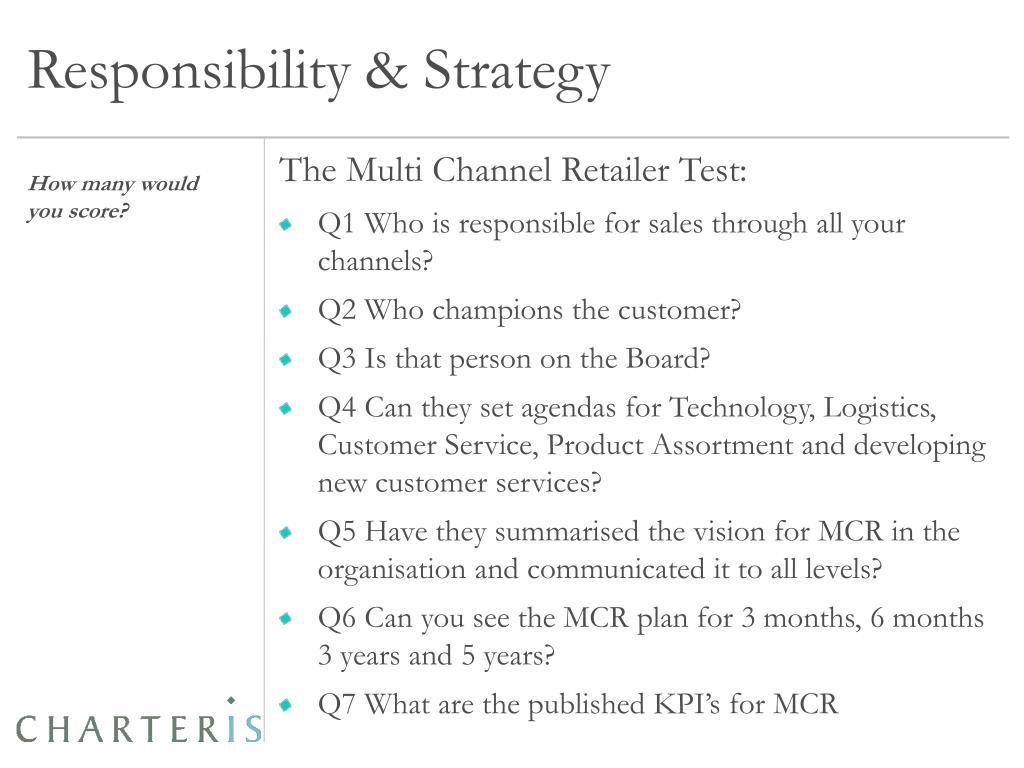 Responsibility & Strategy