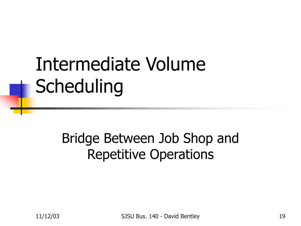 Intermediate Volume Scheduling