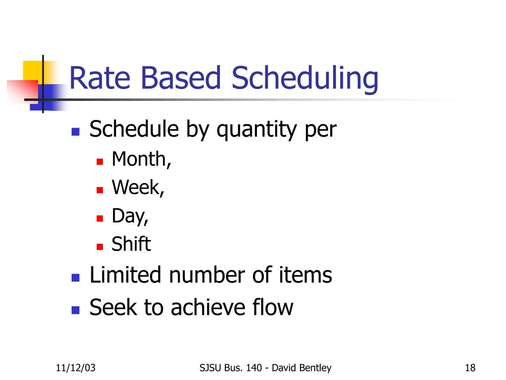 Rate Based Scheduling