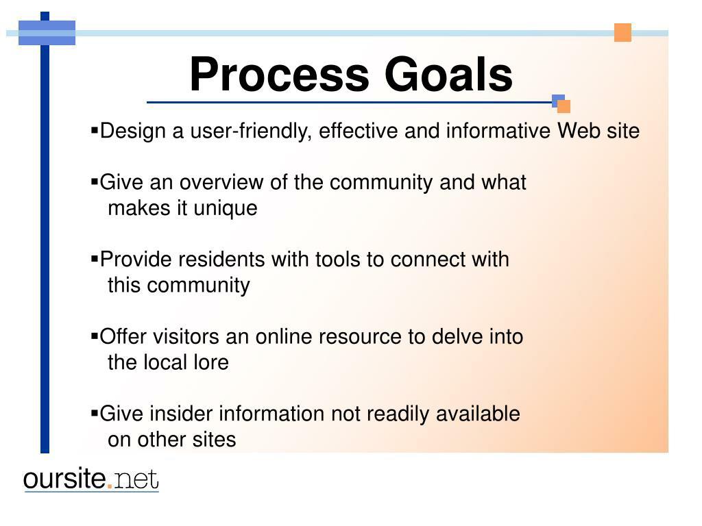 Process Goals