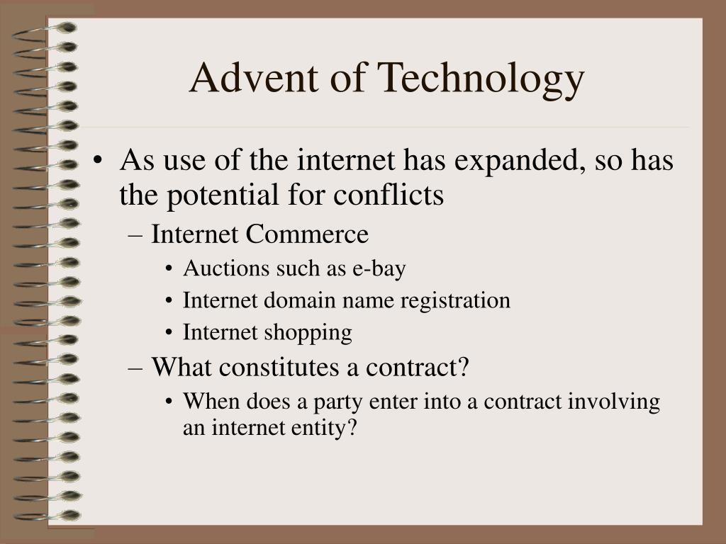 Advent of Technology
