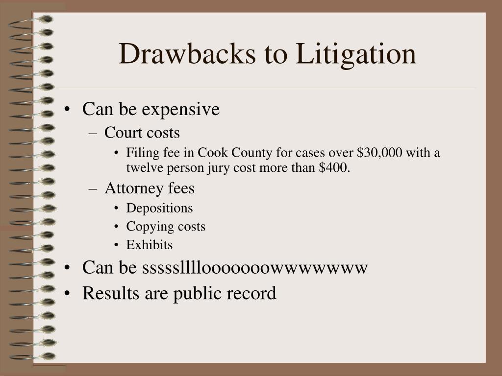 Drawbacks to Litigation