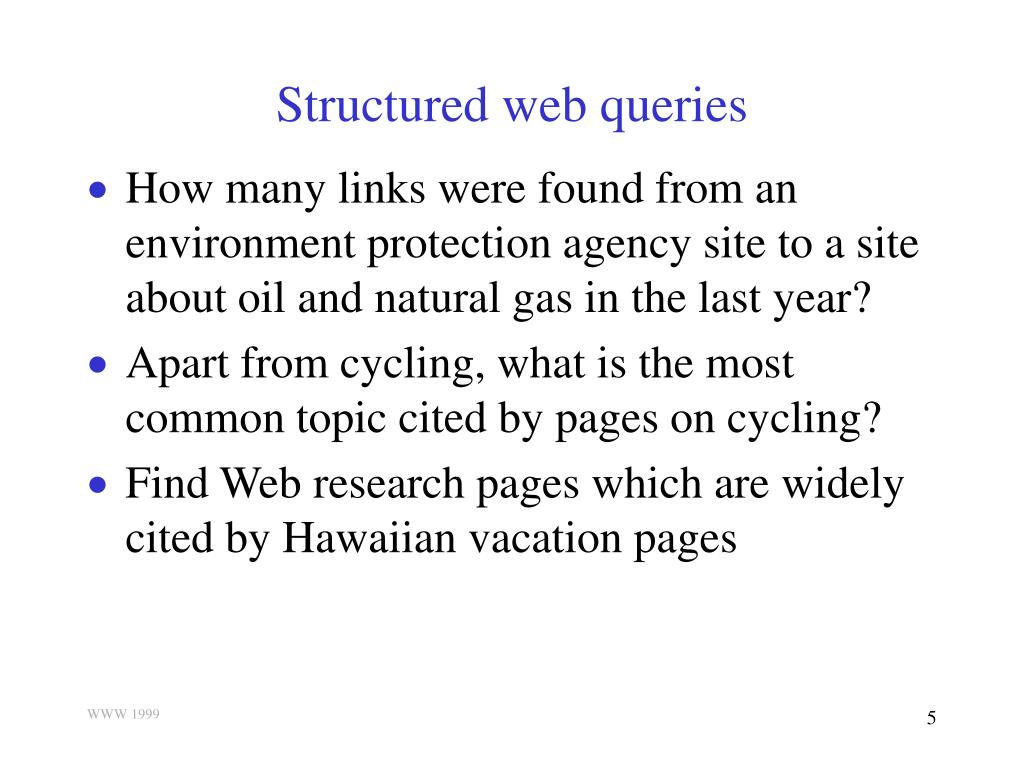 Structured web queries