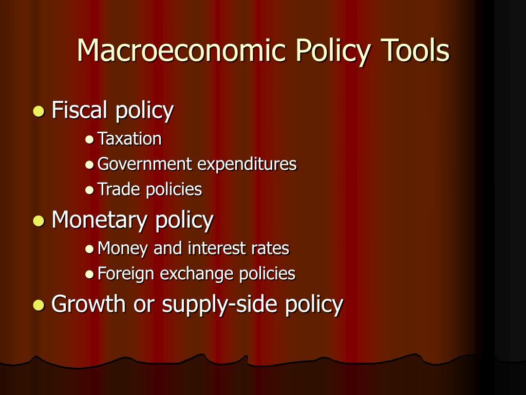 Macroeconomic Policy Tools