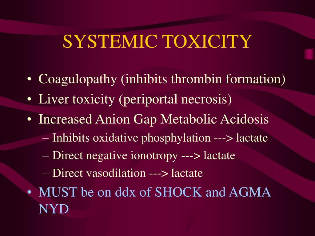 SYSTEMIC TOXICITY
