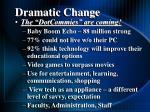 dramatic change10