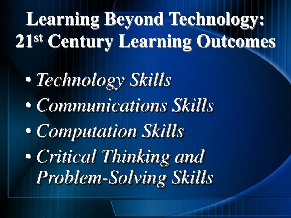 Learning Beyond Technology:
