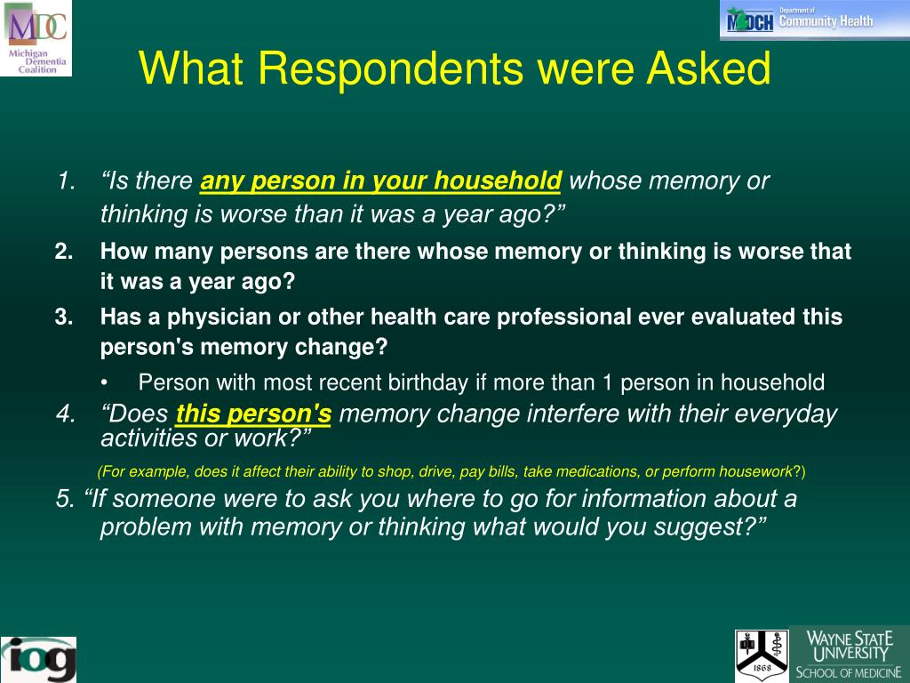 What Respondents were Asked