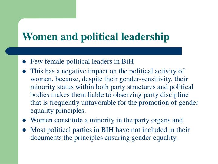 Women and political leadership l.jpg
