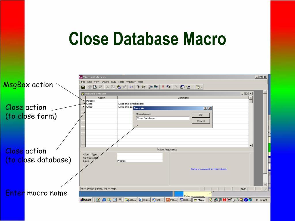 Close Database Macro
