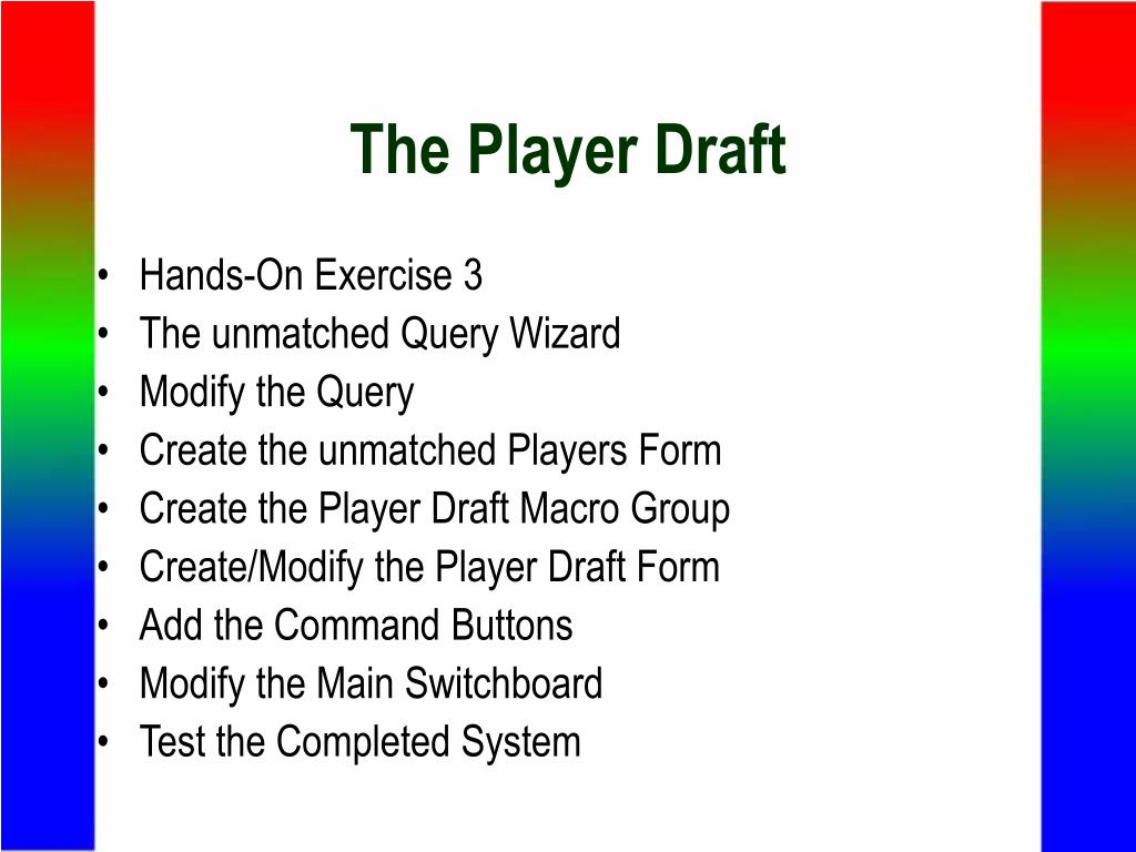The Player Draft